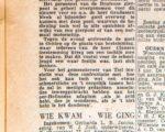 Twee knipsels uit de kranten van donderdag 23 augustus 1956, aanwezig op het stadsarchief