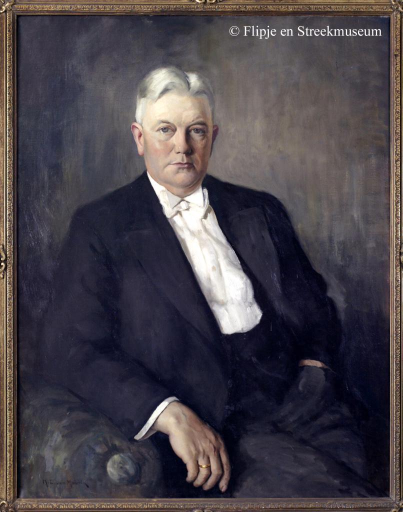 G.J.Peters, geschilderd door H.C. van Mourik