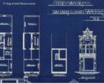 Een deel van de blauwdrukken van Bogenholz uit 1910 waaruit blijkt dat Weerstraat 22 al 116 jaar nagenoeg onveranderd is gebleven
