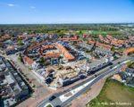 Tiel, 01 mei. Luchtfoto Vinkenhof. Renovatie SCW woningen aan de Binnenhoek en Vinkenstraat.