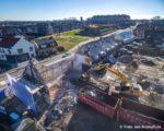 Tiel, 16 januari.  In opdracht van SCW worden 36 woniningen van het complex Vinkenhof vernieuwd. De sloop van woningen aan de Binnenhoek.