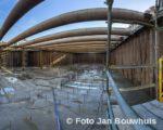 Tiel, 8 januari. Bij de bouw van het cultuurcentrum Westluidense Poort is een nieuwe fase ingegaan.