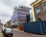 Tiel, 23 maart. Renovatie gemeentehuis Ambtmanstraat in de steigers.