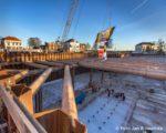 Tiel, 25 januari 2016. Start bouw parkeergarage Cultuurcentrum Westluidense Poort.