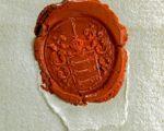 Het zegel van de pandjesbaas Bonebakker op diverse 18e eeuw stukken in het Stadsarchief