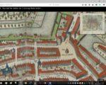Rechts op de kaart van Blaeu de pomp op de Groenmarkt en links de putten bij Sterkenburg en naast Zeeman.