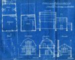 blauwdrukken van de hoefsmidsschool in Reg. Archief