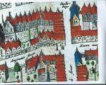 De Coornmercktputh staat getekend op de stadsplattegrond van Bleau
