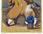 Engelse spotprent en Lodewijk Napoleon en zijn zoon