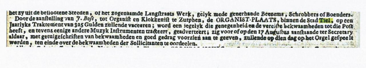De advertentie waarop Johannes Buijs reageerde